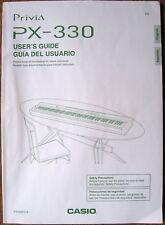 Casio PX-330 Digital Piano Keyboard Original Owner's Manual Book English Spanish