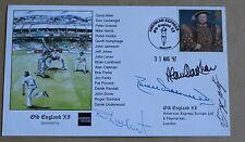 OLD ENGLAND 1997 CRICKET COVER SIGNED BY UNDERWOOD, OAKMAN, LUCKHURST & HUMPAGE