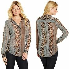 GUESS BY MARCIANO AUTUMN PYTHON-PRINT BLOUSE  <div class=