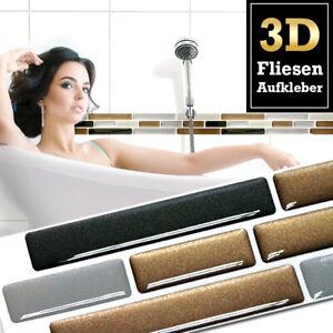 5x 3D Fliesenaufkleber Wandaufkleber Küche Bad Fliesenfolie Klebefolie W1425
