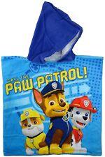 Patte Patrol Beach, 100% Coton, Bleu ,Serviette, avec Capuche pour Enfants
