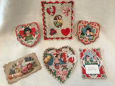 #11 Vintage Collection (6) Whitney Made, Lace, Die Cut Other Valentine Cards