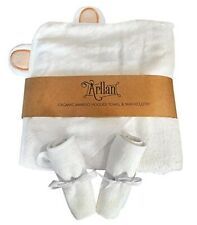 Arllan Organic Bamboo Hooded Towel And Cloth Set