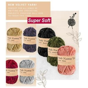 100g Malli Velvet Luxurious Knitting Yarn Balls Super Soft Crochet Craft Wool