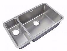 Kitchen Sinks Undermount 1.5 Bowl Brushed Steel (D02R)