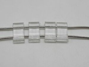 100 Clear Transparent Acrylic Flat Square Beads Two Hole 18X9mm Spacer Bar