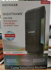 NETGEAR CM1150V-100NAS Nighthawk Cable Modem with Voice CM1150V Xfinity Spectrum