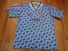 MANCHESTER UNITED MAN UTD VINTAGE 1990-1992 90-92 ADIDAS AWAY LARGE BOYS SHIRT