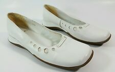 Clarks womens white leather flat shoes UK 3 Eu 36