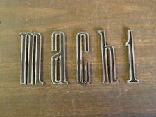 NOS OEM Ford 1970 Mustang Mach 1 Deck Lid Letter Set Trunk Lid Emblems Trim
