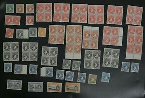 Nigeria lot of F/VF 1938 KGVI stamps ALL MNH (k114)