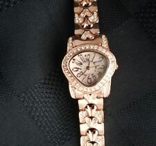 Vintage Croton Womens Watch Rose Gold Tone w Crystals in original box