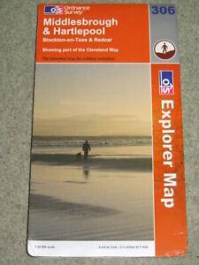 OS Ordnance Survey Explorer 1:25,000: Sheet 306 Middlesbrough & Hartlepool; 2007