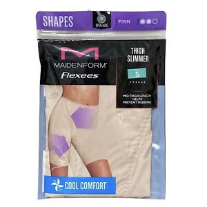 NEW Maidenform Flexees Thigh Slimmer Shapewear S Cool Comfort Beige Small