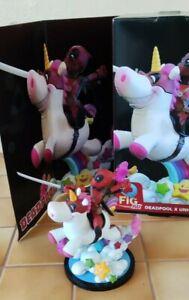 Figurine Q-fig Deadpool x Unicorn Marvel Quantum Mechanix QMX