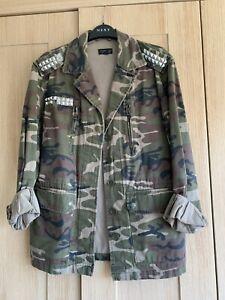 Topshop Camo Army Print Jacket Size 10