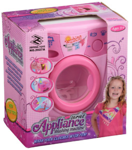 GIFTWORKS SERIES APPLIANCE WASHING MACHINE - 2482 WORKS LIKE REAL ROLE PLAY PINK