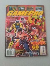 **NICE w/INSERTS & CAPCOM POSTER ATTACHED!!! Gamepro Magazine # 118 July 1998
