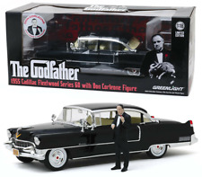 The Godfather 1955 Cadillac Fleetwood with Figure Don Corleone 1:18