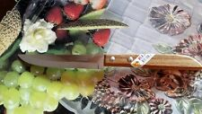 "QUALITY KNIVES THAI KIWI BRAND WOOD HANDLE KITCHEN TOOL BLADE 4.5"" STAINLESS NEW"