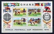 S5124) Ghana 1974 MNH World Cup Football - Cup Del Mondo Football S/S