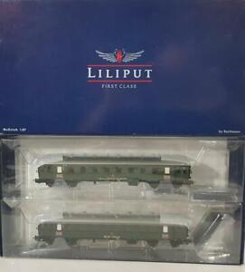 """Bachmann Liliput L350081 HO GAUGE - POST WW2 """"BRITISH ARMY IN GERMANY"""" COACH SET"""