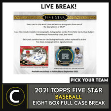 2021 Caja de béisbol 8 TOPPS FIVE STAR (Completo Funda) romper #A1218 - Elige Tu Equipo