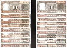 10 Rupees Complete Boat Signature set of All Governors @ Uncirculated Condition