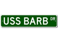 USS BARB SSN 596 Ship Navy Sailor Metal Street Sign - Aluminum