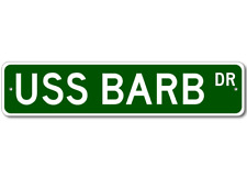 USS BARB SSN 596 Ship Navy Sailor Metal Street Sign - Aluminum