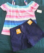 NWT 10 Tea Collection Striped Shirt Gymboree Navy Shorts