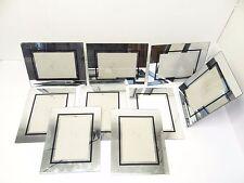 Vintage Used Modern Reflective Mirror Glass Picture Frames Set Lot Old