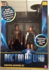 Doctor Who Action Figure DOCTOR WHO Christmas Adventure Set With TARDIS Box Set