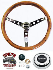 "1970-1976 Duster steering wheel PLYMOUTH 15"" CLASSIC WALNUT steering wheel"