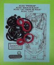 """Stern AC / DC """"Premium"""" """"Back in Black"""" """"Let There Be Rock"""" rubber ring kit"""