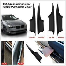 4XBlack Plastic Inner Doors Panel Handle Pull Trim Cover For BMW 7Series F01 F02