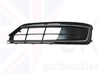 AUDI A8 S8 2014-2016 NEW GENUINE FRONT BUMPER GRILL BLACK LEFT N/S 4H0807679RT94