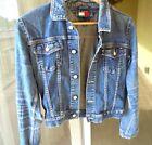 Vintage 90's Tommy Hilfiger Denim Jean Jacket Emblem Flag Size S/P Small