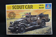 XZ105 ITALERI 1/35 maquette voiture 231 Scout Car White M3A1 D Day 50 th USA