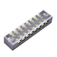 600V 15A 8 Positions Dual Rows Covered Barrier Screw Terminal Block Strip M BB
