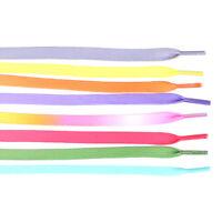 1 paire 100cm couleur bonbon gradient lacet plat lacets sport lacets chaussures