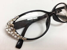 47a62741e79a New Swarovski Crystal Edge Black Women s Eye Glasses Readers +2.25
