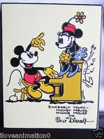 Disney Auctions Vintage Mickey Mouse & Minnie  Mouse Card LE 100 Pin