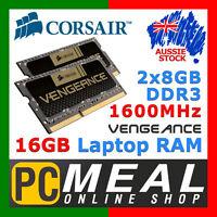 Corsair Vengeance SODIMM 16GB DDR3 1600MHz RAM Laptop Gaming Memory 2x 8GB Kit
