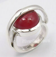 925 Pure Silver Unseen CABOCHON RED CARNELIAN UNUSUAL LATEST STYLE Ring Any Size