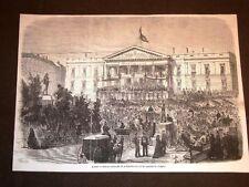 Madrid La lettura solenne della Costituzione Marches du Congrès Spagna Anno 1869