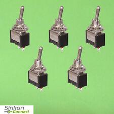 5 x Miniatur Kippschalter 1-polig 2 Kontakte Umschalter 250V 3A Stück Lötan.(308
