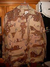 DESERT STORM US DCU ARMY 6 Color Desert Camo Combat Shirt SMALL LONG NEW W/ OUT