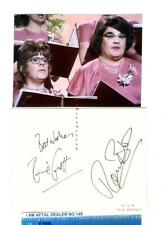 Two Ronnies  vintage signed page AFTAL#145