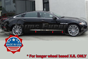 2009-2019 Jaguar XJL X351 6Pc Body Side Molding Trim Chrome Stainless Steel